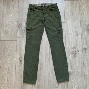 Paige army green stretchable jeans skinny jeans 25
